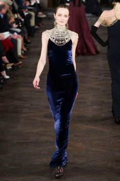 Ralph Lauren Blue Velvet Fall 2013