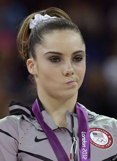 McKayla Maroney...a picture is worth a THOUSAND words. She did an amazing job...but man, if looks could KILL.