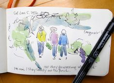 Sketchbook Wandering : Spruce Head, Maine