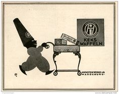 Original-Werbung/ Anzeige 1924 - HICKSTEIN KEKS- WAFFELN MAGDEBURG - ca. 140 x 110 mm