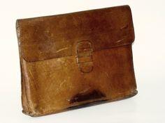 Aktenmappe / Dokumentenmappe Leder Vintage von ZeitSprungVintage auf DaWanda.com