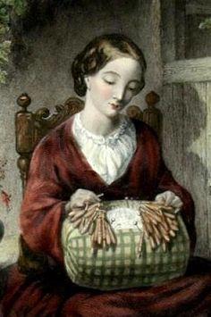 Victorian lace making (bobbin lace)