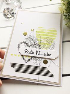 stampin up papierwunder karte Geburtstag heart happiness herzen blütenfantasie Gold metallic limtte washi tape