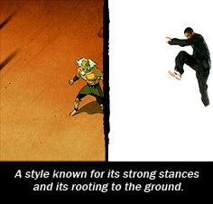 Airbender where all the bending fighting styles come from very cool