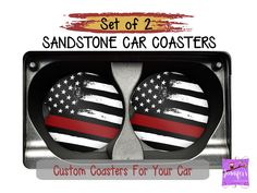 Excited to share this item from my shop: Thin Red Line Car Coaster Set - Red Line Flag - Red Lives Matter - Firefighter Support - Gift for Firemen - Gift for Him - Gift for Chief Grandpa Gifts, Sister Gifts, Gifts For Dad, Sister Sister, Family Gifts, Bosses Day, Sandstone Coasters, Custom Coasters, Grandparent Gifts