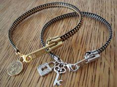 diy zipper bracelet ... kids would love this project