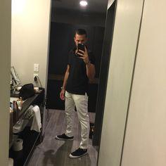 White pants for men.