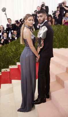 Gigi Hadid (wearing Tommy Hilfiger) and Zayn Malik attend the 2016 Costume Institute Gala... and are total #CoupleGoals. #MetGala                via @AOL_Lifestyle Read more: http://www.aol.com/article/2016/05/03/dashing-duos-the-most-stylish-couples-on-the-met-gala-red-carpe/21369279/?a_dgi=aolshare_pinterest#slide=3881915|fullscreen