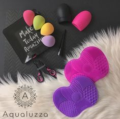New: Colorful collection of brush cleaner tools and makeup blender sponges! Available now. #makeup #makeupessentials