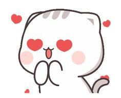 LINE Stickers Cutie Cat-Chan Jimao,Cutie Cat-Chan is coming again !,Stickers,Animated Stickers,Example with GIF Animation Cute Love Memes, Cute Love Gif, Cute Love Cartoons, Cute Anime Cat, Cute Cat Gif, Cute Bear Drawings, Cute Cartoon Drawings, Cute Cartoon Pictures, Cute Love Pictures