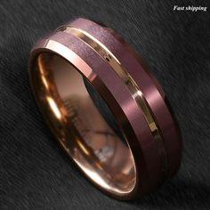 8PCS Silicone Wedding Ring Men Women Rubber Band Comfortable Elegant Flexible US