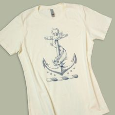 Anchor TShirt Nautical Dolphin Vintage Tattoo by PointGraphicInk