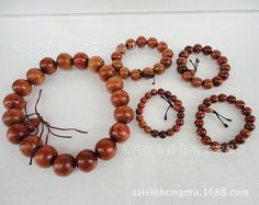 Factory direct Vietnam rosewood mahogany wood bead bracelet rosary bracelets cheap wholesale Buddha lotus
