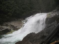 Gold Creek Falls in Golden Ears Provincial Park Difficulty Easy Time 2 hours Round-Trip Vancouver City, Tri Cities, Swimming Holes, Columbia River, Round Trip, British Columbia, The Places Youll Go, Trail, Scenery