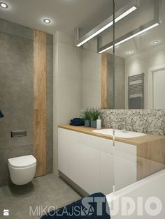 Wood Effect Tile wall feature with a large format grey tile. Bathroom Furniture, Bathroom Renos, Shower Room, Ensuite Bathrooms, Bathroom Interior, Small Bathroom, Bathroom Plans, Toilet Design, Bathroom Decor