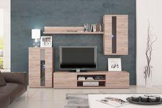 Life - Obývací stěna (dub sanremo) | Jena nábytek