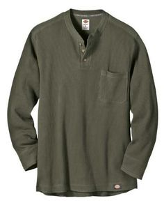 Dickies Men's Long Sleeve Thermal Henley Shirt « Clothing Impulse