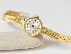 Vintage Watches Collection for women : Art deco ladies watch Luch - gold plated unique women watch - rectangular watch her mechanical - tiny woman watch delicate -new luxury strap - Watches Topia - Watches: Best Lists, Trends & the Latest Styles Gold Diamond Watches, Gold Watches Women, Teen Watches, Cool Watches, Tiny Woman, Art Deco Watch, Watch Brands, Vintage Watches, Luxury Watches