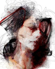 Laws of attractor - A set of portraits created by the Spanish artist Sergio Albiac. A mixture of digital inks and accidental glitches, a review of some traditional artistic techniques that give rise to incredible works of art.