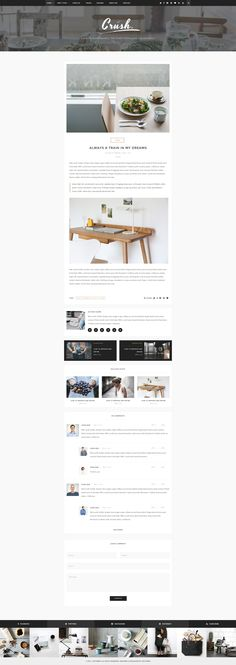 Crush - WordPress Personal Blog PSD Template - PSD Templates | ThemeForest
