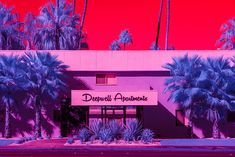 kate ballis / palm springs packs a punch in these infrared shots of modernist architecture eye-candy