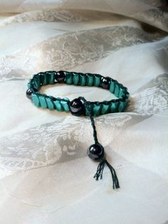 Strong Magnetic Green Hematite Bracelet by NorthCoastCottage, $30.00