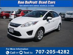 2013 *Ford*  *Fiesta* *SE*  52k miles Call for Price 52663 miles 707-205-4282 Transmission: Automatic  #Ford #Fiesta #used #cars #RonDuprattUsedCars #Vacaville #CA #tapcars