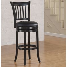 Have to have it. American Woodcrafters Keaton Bar Stool - Flat Black - $219 @hayneedle