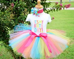 It's My Birthday Girl Tutu Outfit for 1st Birthday or 2nd Birthday on Etsy, $36.50