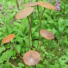 Ferrous Fungi Garden Metal Mushroom Ornaments (Set Of 6). Designed by Phil Rogers.