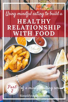 Do you have a unhealthy relationship with food? Check out how mindful eating can help reduce guilt associated with eating and improve your relationship with food. Kaitlyn @ SimplifyingNutrition.com