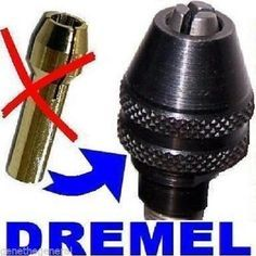 NEW DREMEL # 4486 QUICK CHANGE KEYLESS CHUCK, REPLACES NEED FOR COLLET #Dremel