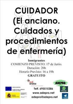 FORMACIÓN OCUPACIONAL y EDUCATIVA: Inmigrantes Salamanca: Curso CUIDADOR. El anciano....