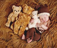 The Caden Crocheted Set is back in stock! This cute little newborn boy outfit is a can't miss. Find more baby photography props for sale here.