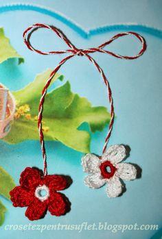 Crochet Boutique: Mărţişoare Crochet Necklace, Baba Marta, Boutique, Handmade, Jewelry, Preppy, Hand Made, Jewlery, Jewerly