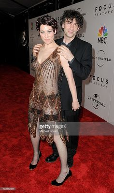Musician Amanda Palmer (L) and fiance writer Neil Gaiman arrive at NBC Universal's 67th Annual Golden Globes After Party at The Beverly Hilton Hotel on January 17, 2010 in Beverly Hills, California.