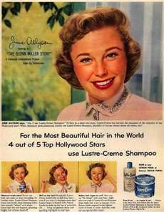 Kay Daumit's Lustre-Creme Shampoo – For the Most Beautiful Hair in the World 4 out of 5 Hollywood Stars use Lustre-Creme Shampoo Retro Ads, Vintage Advertisements, Vintage Ads, 1950s Ads, Retro Advertising, Vintage Style, Julia Roberts, Nicole Kidman, Hollywood Stars