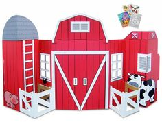 This is such an adorable #cardboard #barnyard scene!