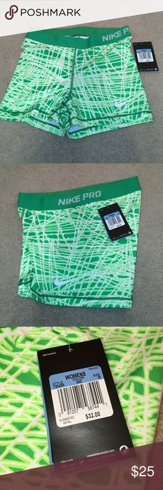 NWT women's Nike pro compression shorts size M NWT women's Nike pro compression shorts size M. Awesome design & very soft dri-fit material. Never worn, smoke free home! 🛍bundle to save🛍 Nike Shorts