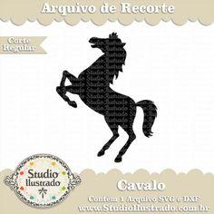 Cavalo, Horse, Pônei, Vinil, Vinyl, Regular Cut, Corte Regular, Silhouette, SVG, DXF, PNG