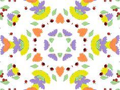 Flowers and Ladybugs kaleidoscope