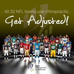 All 32 #NFL  teams use #chiropractic.  #GetAdjusted!