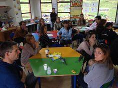 Padres de Familia durante los Coffee Learning Meeting o Escuelas de Padres.