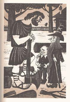 "Soviet illustration of ""The Hobbit"""