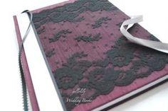NEW---La Posta Vecchia---Dupioni Silk Lace Cover Wedding Guest Book