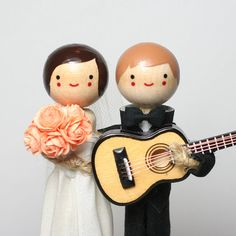 Custom Wedding Cake Topper with 1x INSTRUMENT / by togetherforever, $180.00