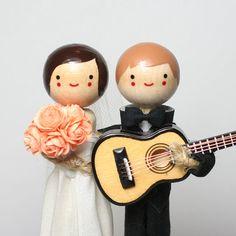Custom Wedding Cake Topper with 1x INSTRUMENT / Music Theme