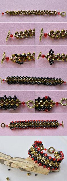 Wanna this beaded bangle? LC.Pandahall.com will publish the tutorial soon. #pandahall