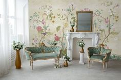 Chinoiserie Wallpaper Peel and Stick | Colorful Boho Floral Wall Mural You don't have to be professional to install our products; the peel and stick wallpaper is removable, easy-to-install, repositionable, and does not leave a residue when removed. ★★★ CUSTOM ORDER ★★★ We can customize the size Chinoiserie Wallpaper, Tree Wallpaper, Textured Wallpaper, Peel And Stick Wallpaper, Wallpaper Ideas, Remove Wallpaper, Animal Wall Decals, Kids Wall Decals, Tree Wall Murals