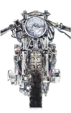 MOTORHEADS   Claude   Illustration #grafica #illustrazione #moto #vintage